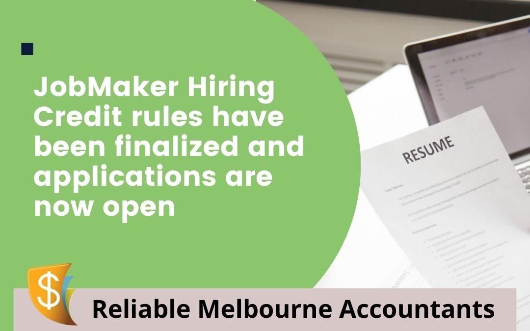 JobMaker Hiring Credit rules have been finalised