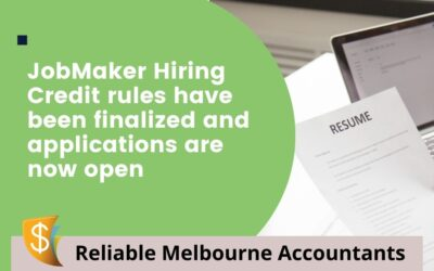 The JobMaker Hiring Credit rules have been finalised and applications are now open